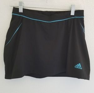 Adidas Black/Blue Athletic Skirt Size Small